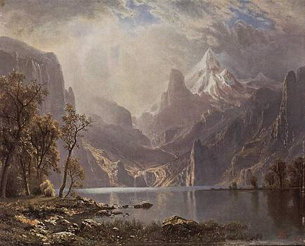 In The Sierras by Albert Bierstadt