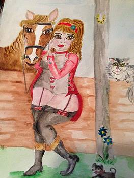 In the  stables by  Lady  Ann