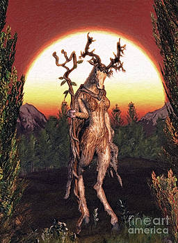 Incarnations Of The Wilderness I - ' The Druidess ' by K I M