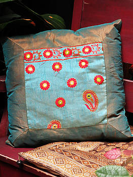 India Pillow by Scott Shaw