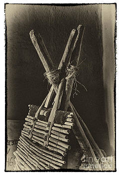 Indian Backrest in Sepia Black and White by Robert Gaines