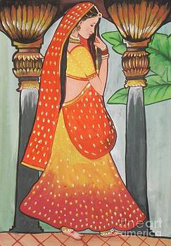 Indian Beautiful Woman by Artist Nandika  Dutt