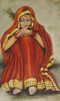 Indian Bride by Kamal Gill