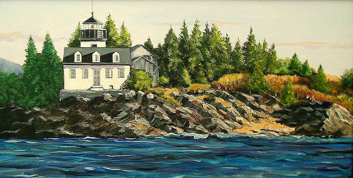 Indian Island Lighthouse by Janet Glatz