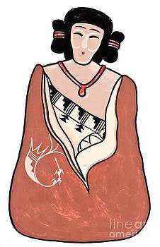 Mae Wertz - Indian Lady Painting