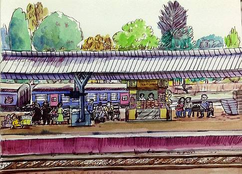 Aditi Bhatt - Indian railway station