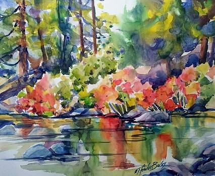 Indian Rhubarb on Still Creek SOLD by Therese Fowler-Bailey