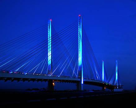 Bill Swartwout Fine Art Photography - Indian River Bridge at Night