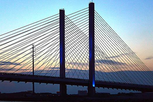 Bill Swartwout Fine Art Photography - Indian River Bridge Blue Light