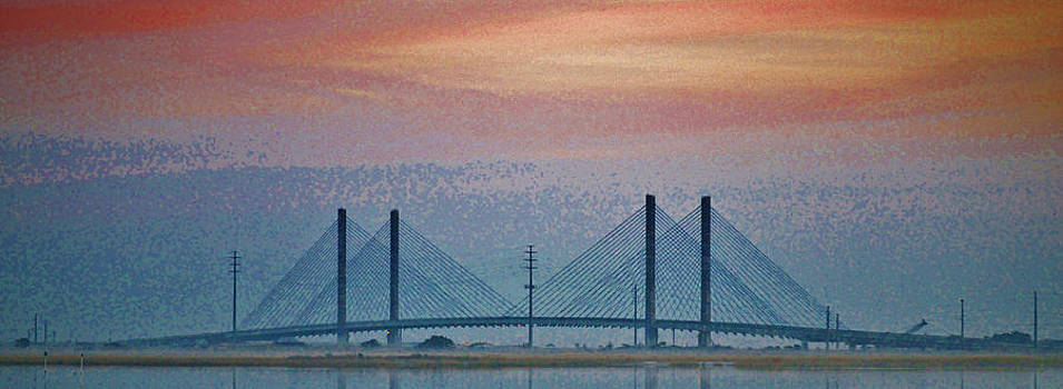 Indian River Bridge Saturation by William Bartholomew