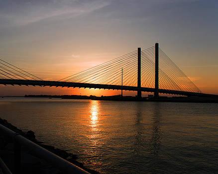 Bill Swartwout Fine Art Photography - Indian River Bridge Sunset Reflections