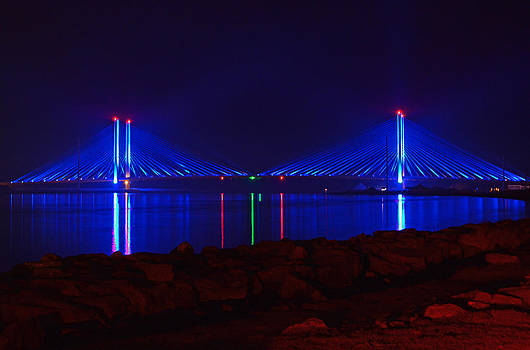 Bill Swartwout Fine Art Photography - Indian River Inlet Bridge After Dark