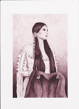Indian Sioux Maiden by Billie Bowles