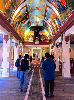 Venetia Featherstone-Witty - Indian Temple Interior in Kuala Lumpur