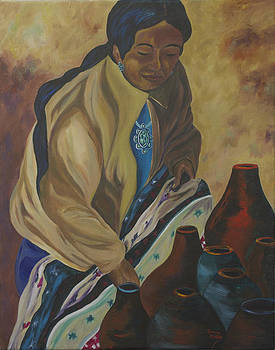 Indian Woman Potter by Donna Drake