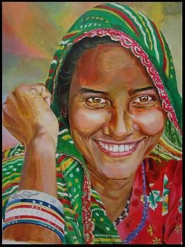 Indian Woman by Samir Chaudhari