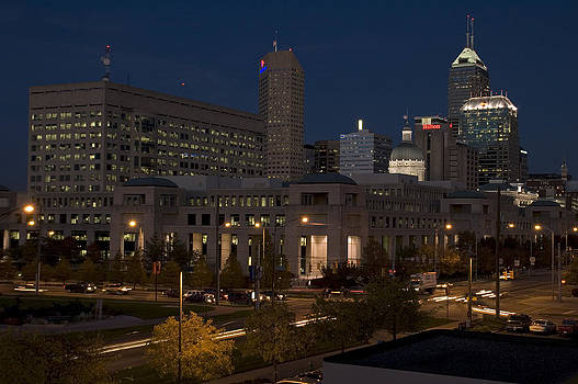 Devinder Sangha - Indianapolis Downtown in late evening