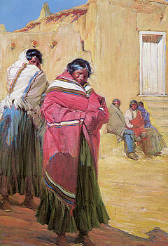 Gerald Cassidy - Indians Outside Taos Pueblo