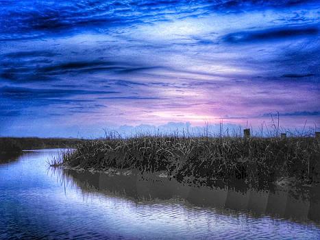 INDIGO SKY SUNRISE SUNSET IMAGE ART by Jo Ann Tomaselli by Jo Ann Tomaselli