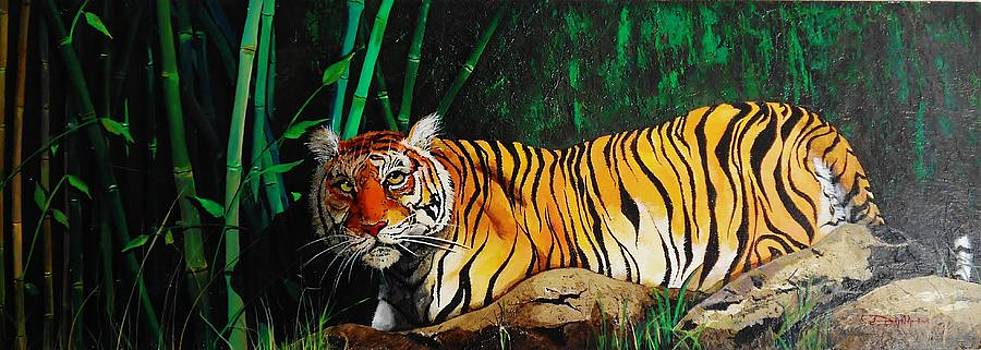 Indochinese tiger by Dana Newman