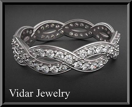Infinity Diamond 14k White Gold Woman Wedding Ring by Roi Avidar