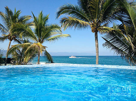 Infinity Pool in Puerto Vallarta Mexico by Christy Woodrow