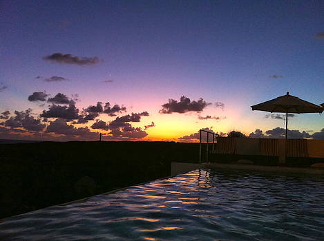 Infinity Pool Sunset in Anguilla by Jennifer Lamanca Kaufman