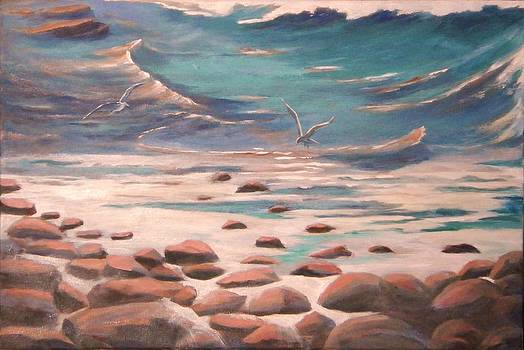 Ingonish Beach Cape Breton shores by Anne Marie Spears