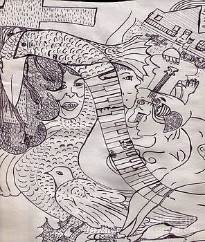 Ink Art to Color 3 by Lois Picasso