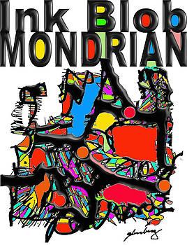 Ink Blob Mondrian by Dean Gleisberg