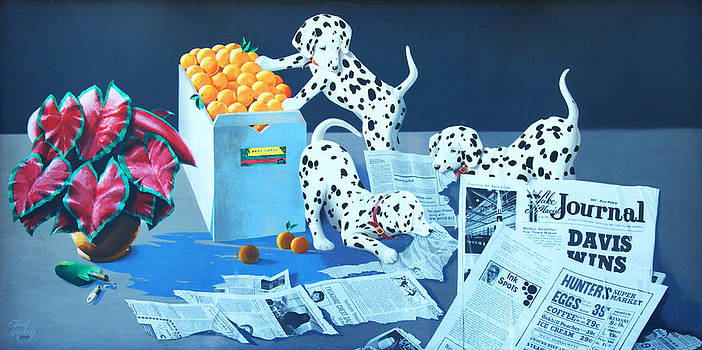 Linda Rae Cuthbertson - Dalmatians Called Ink Spots Wall Mural
