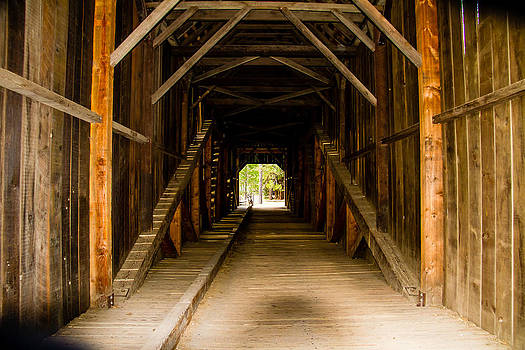 Inside a 1900s Bridge all wood by Brian Williamson