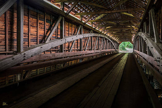 Inside Covered Bridge by Pat Scanlon