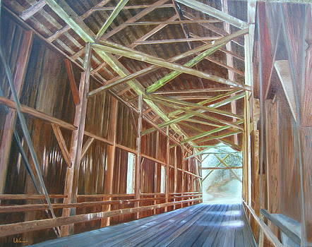 Inside Felton Covered Bridge by LaVonne Hand