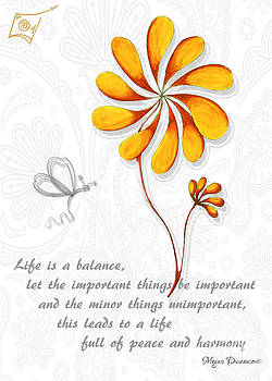 Inspirational Butterfly Flower Art Inspiring Quote Paisley Design by Megan Duncanson by Megan Duncanson