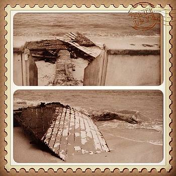 #instacollage Broken #boat Found On The by Ann Marie Donahue