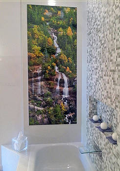 Michael Peychich - Installed Print Skagway Waterfall