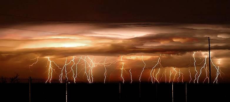 Intense electrical storm by John Dickinson