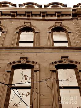 Christine Stack - Interesting Architecture and Windows near Monument Square in Downtown Portland Maine