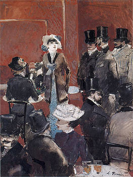 Jean-Louis Forain - Interieur de cafe
