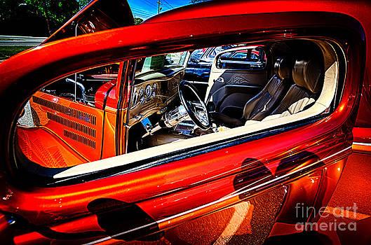 Danny Hooks - Interior of Red Vintage Car