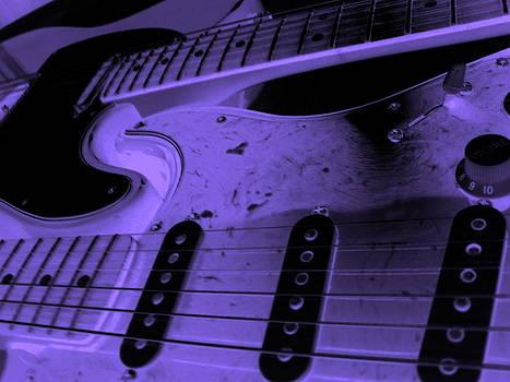 Interlocking Rythumns in Purple and Black by Darryl  Kravitz