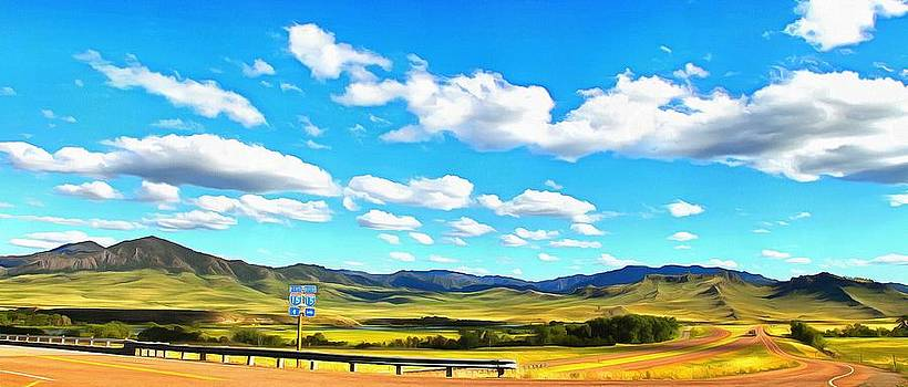 Interstate 15 Montana USA by Mick Flynn