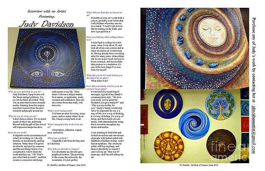 Interview pages of June Issue by Judy Davidson
