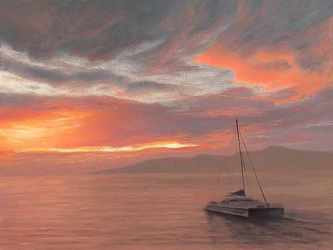 Into the Maui Sunset by Steve Kohr