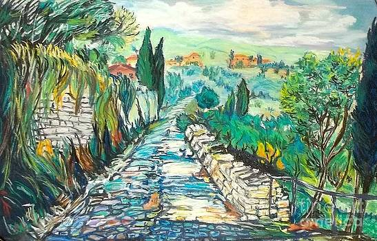Into the Tuscan countryside by Frank Giordano
