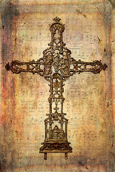David and Carol Kelly - Intricate Rusty Iron Cross