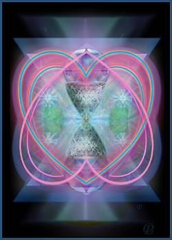 Intwined Hearts Chalice Enveloping Orbs Vortex Fired by Christopher Pringer