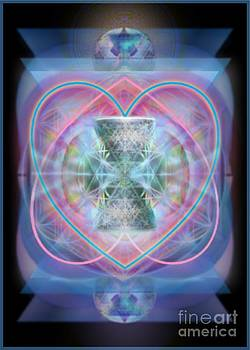 Intwined Hearts Chalice Wings of Vortexes Radiant Deep Synthesis by Christopher Pringer