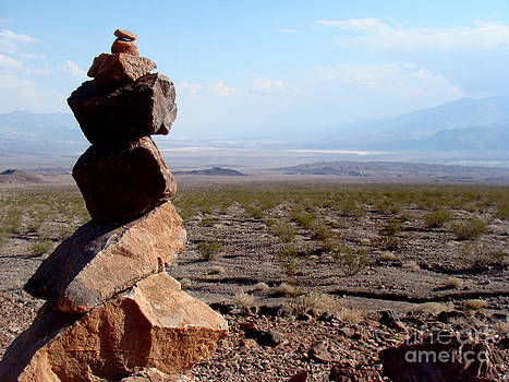 Inukshuk in Death Valley by Eva Kato